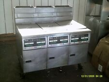 Pitco Frialator 3 Section Gas Deep Fryer With Mobile Filtering System