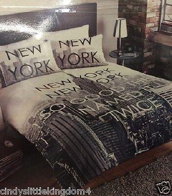 New City Scene New York double duvet cover & 2 pillowcases set
