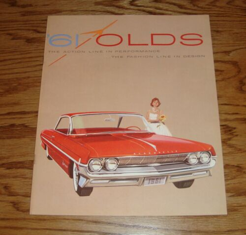 Original 1961 Oldsmobile Full Line Deluxe Sales Brochure 61 F-85 Holiday