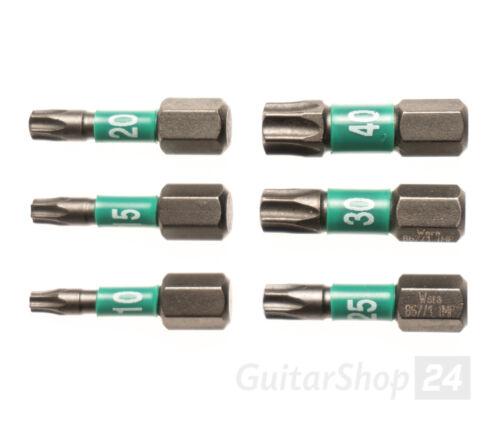 """Diamant. WERA Torx Impaktor Bit 25mm 1//4/"""" wahlweise TX T10 T15 T20 T25 T30 T40"""