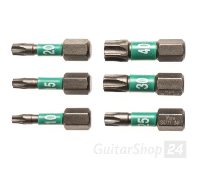 """WERA Torx Impaktor Bit 25mm 1/4"""" wahlweise TX T10 T15 T20 T25 T30 T40 - Diamant."""