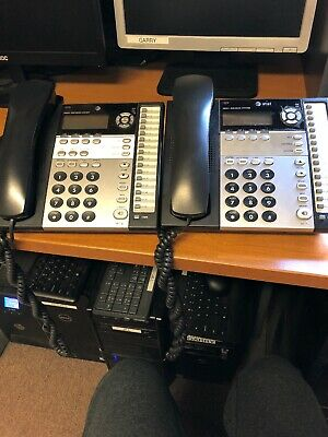 Two (2) AT&T 4-Line Small Business System Phone 1040, 1070 ...