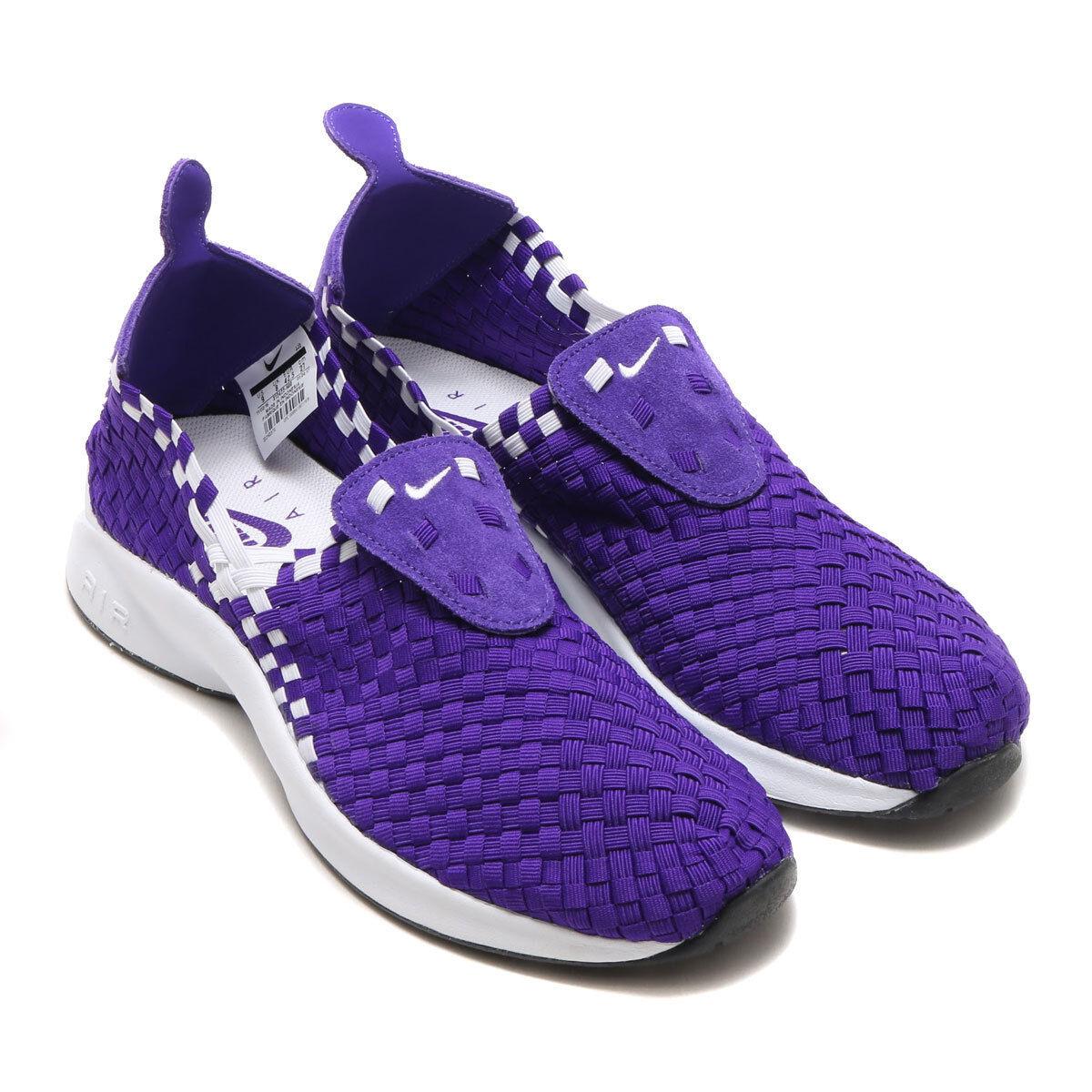 NEW Purple Nike Air Woven Court Purple NEW White Black Footscape Mens SAMPLE Low QS sz 10 9e8d50