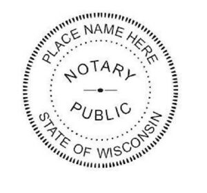 Image Is Loading State Of Wisconsin Custom Round Self Inking Notary