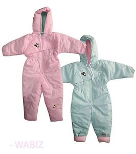 d27f16345 Kids Girls Boys Snuggler Insulated Padded Snowsuit Winter Baby All ...