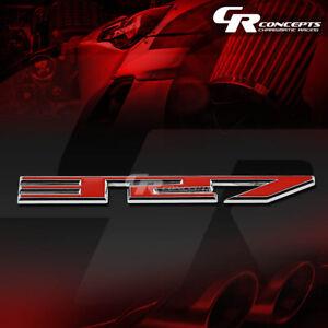 Details about 3M TAPE ON AUTO METAL EMBLEM LOGO TRIM BADGE POLISHED CHROME  RED GM SBC 327 5 3