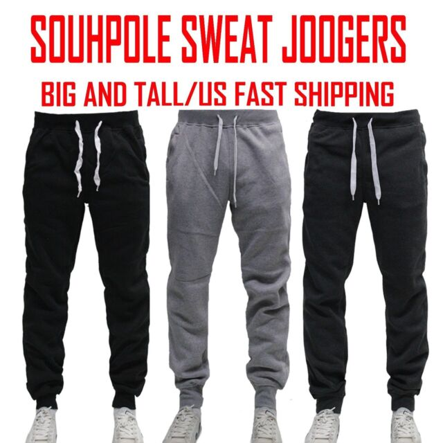 81ab971a06e7b BIG AND TALL FLEECE JOGGER SOUTHPOLE Active Slim Fit Unisex Sweat Pants  4~6XL