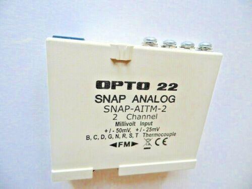-25 to 50 mV 50 to 25 mV OPTO22 SNAP-AITM-2 INPUT MODULE