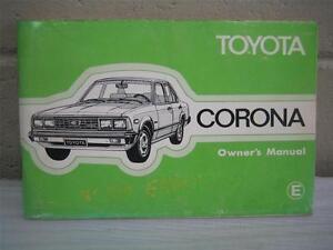 toyota corona early xt130 owner s instruction manual 1979 1981 rh ebay com 1995 Toyota Corolla 1979 Toyota Corona