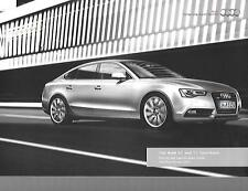 AUDI A5 & S5 SPORTBACK ILLUSTRATED PRICES/SPECIFICATION SALES BROCHURE JAN. 2014