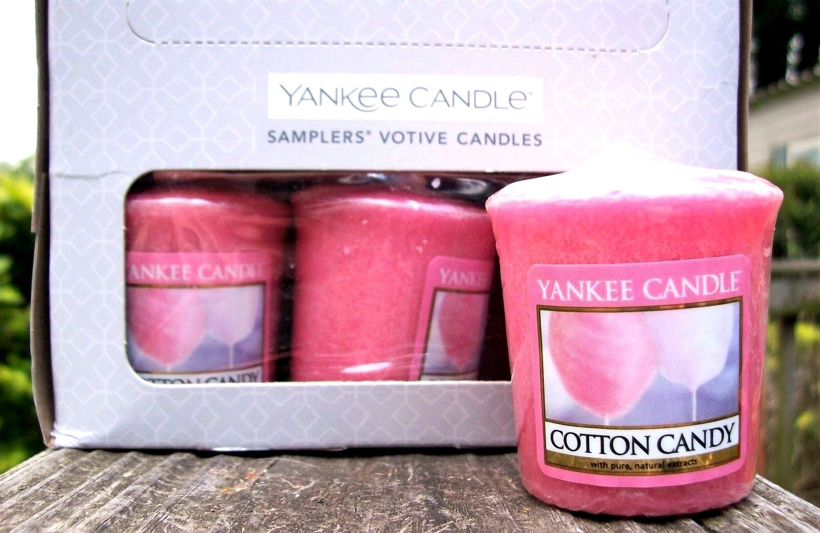 Box Lot of 18 Yankee Candle Retired  COTTON CANDY   Votive Samplers  NEW
