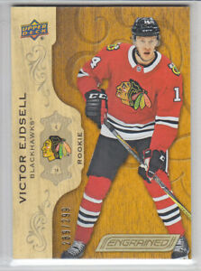 2018-19-UD-ENGRAINED-VICTOR-EJDSELL-RC-289-299-ROOKIE-77-Upper-Deck-Knights