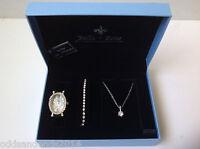 Bella & Rose Watch, Bracelet And Necklace Set