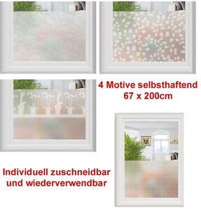 Fenster Folie Sichtschutzfolie Dekorfolie Milchglasfolie 67x200 18