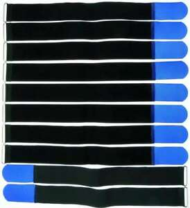 10 Klettkabelbinder mit Öse 500 x 50 mm schwarz Kabelbinder Klettband Kabelklett