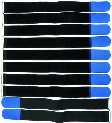 Angemessen 10 Klettbänder Kabelklett 500 X 50mm Blau Kabel Klett Band Kabelbinder Klettband