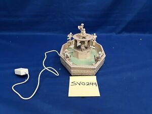 Lemax Village Collection Lighted Square Fountain #14663 As Is SV0244