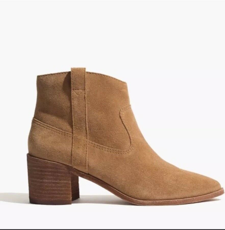 NEW Madewell  210 Lonnie avvio Leather Dimensione 10 Camel Ankle avvio