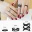 4-15PC-Boho-Stack-Plain-Above-Knuckle-Ring-Midi-Finger-Tip-Rings-Set-Silver-Gold thumbnail 23