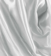 "10 Yards 60"" Silver Satin Fabric Wedding Decoration Runner Sash Table Overlay"