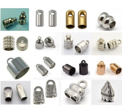 10 Stück Perlenweben & Schmuckherstellung Edelstahl Endkappen/Metallkappen 10x5mm