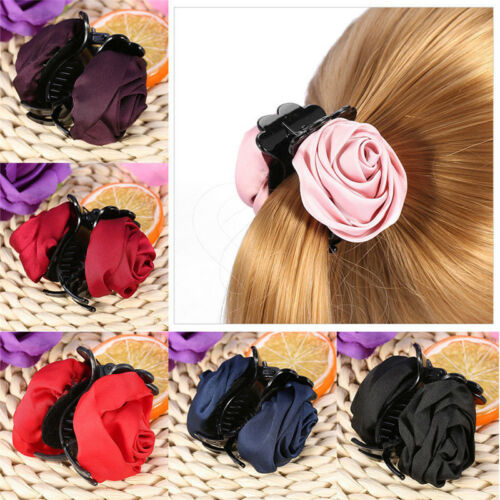 Fashion Hair Clip Claws Rose  Clips Hair Accessories Women Girls Hair Crab Clamp