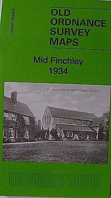 Old Ordnance Survey Maps Ashford North Middlesex 1934  Godfrey Edition New