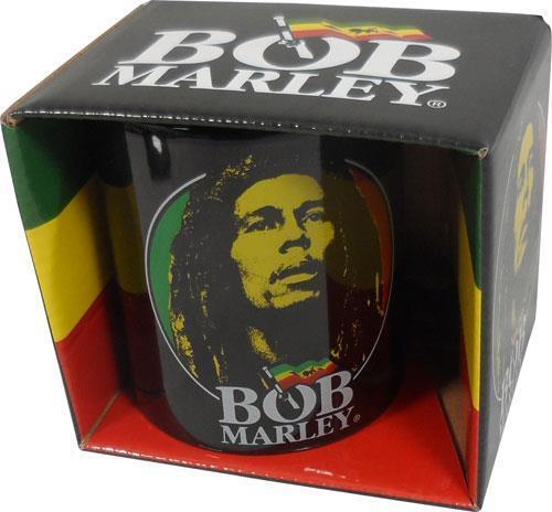 Bob Marley - Face Logo Ceramic Coffee / Tea Mug - New & Official In Box