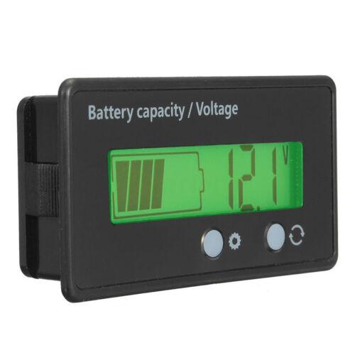 12V 24V 36V 48V LCD Display Voltmeter Gauge /& Car Lead-Acid Lithium Battery
