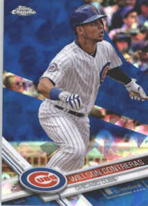 WILLSON-CONTRERAS-2017-TOPPS-CHROME-SAPPHIRE-EDITION-502-ONLY-250-MADE