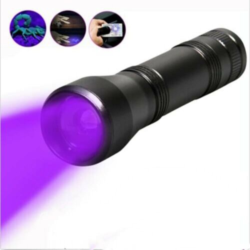 CT1 Zoomable 5 Mode IPX5 Waterproof LED Flashlight Tactical Torch White//UV light