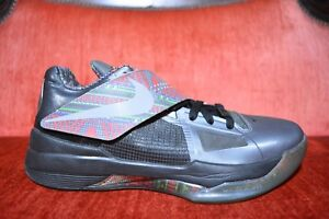 3cfe093bb7ed CLEAN 2011 Nike Zoom KD IV 4 BHM Size 9 KEVIN DURANT BLACK HISTORY ...