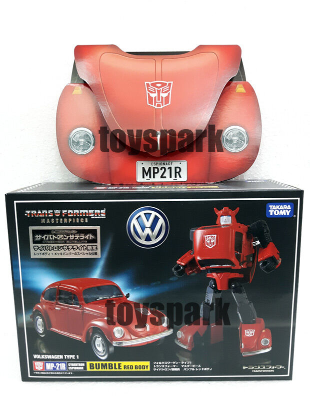 TAKARA Transformers Masterpiece MP-21R BUMBLEBEE Red Body figure +EXCLUSIVE COIN