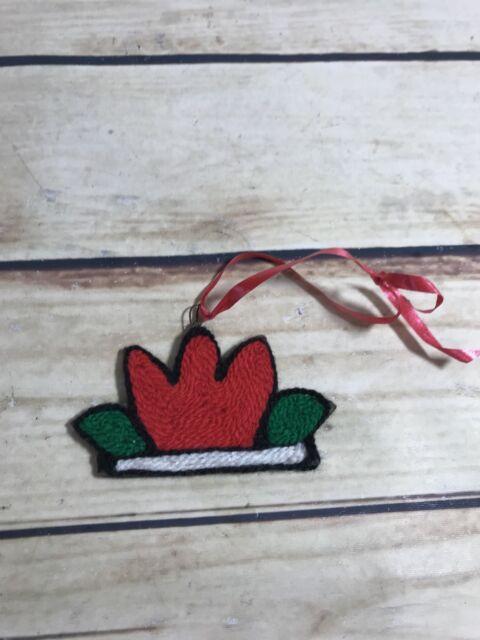 Small Knitted Christmas Ornament Tree Decoration Handmade Holiday Decor Xmas