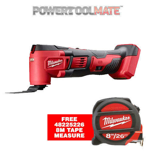 Milwaukee M18BMT-0 18v Multi Tool - Naked - Body Only - with FREE Tape Measure