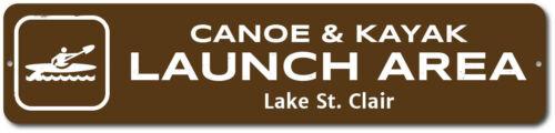 Canoe /& Kayak Launch Area Sign Custom Lake Lover Location Name ENSA1002333