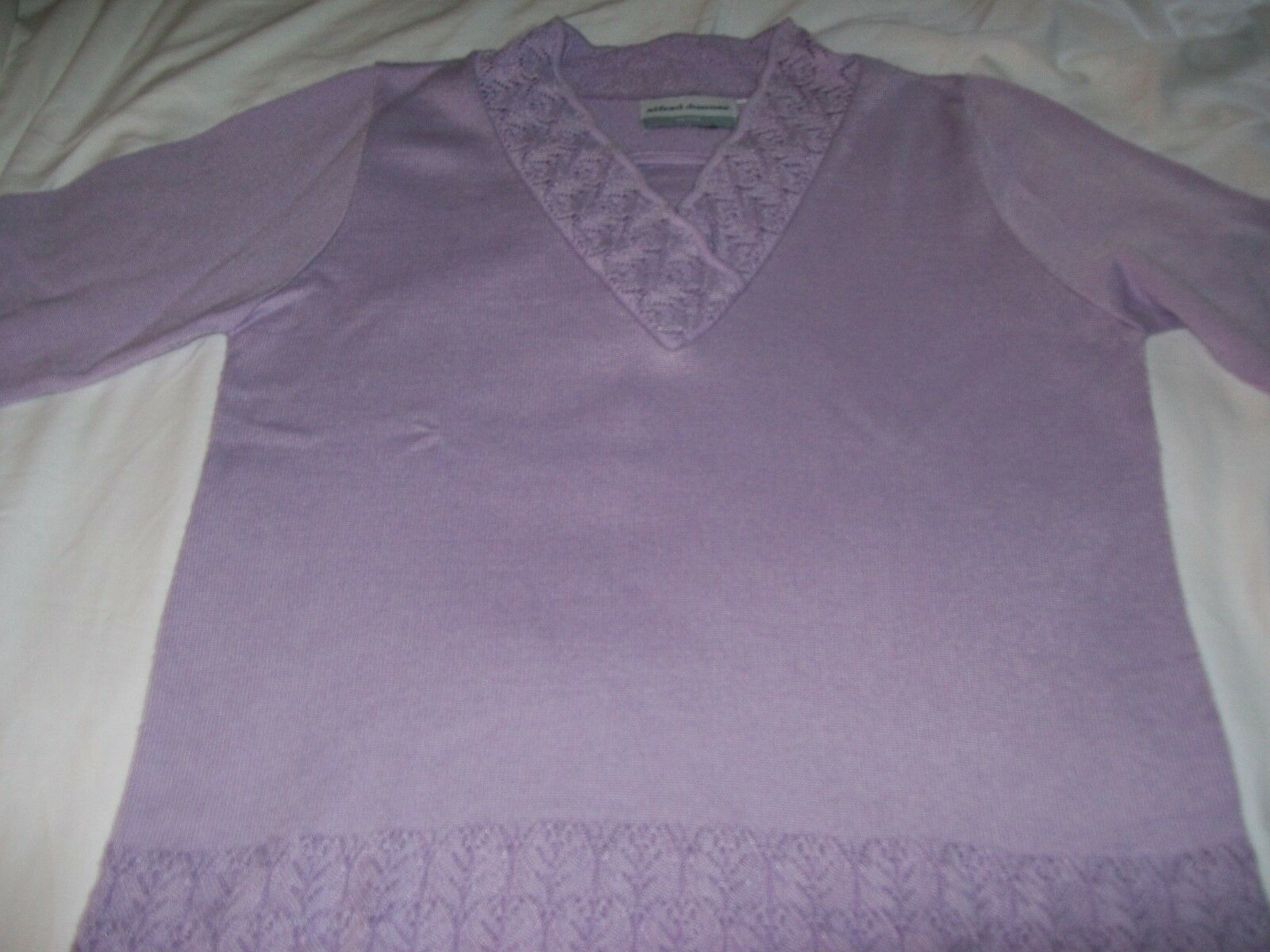 Alfred Dunner Dunner Dunner petite pants and sweater set-Lavender 954cee