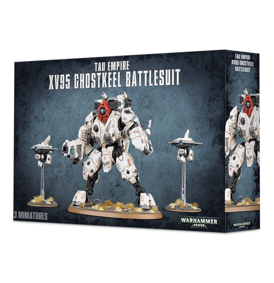Warhammer 40K Tau Empire XV95 Ghostkeel Battlesuit plastic box new