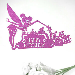 Peter Pan Birthday Party Cake Topper Never Grow Up Custom Name Age Tinkerbell