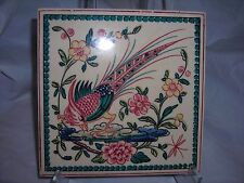 Ceramic tile hand painted Portugal , bird images #1