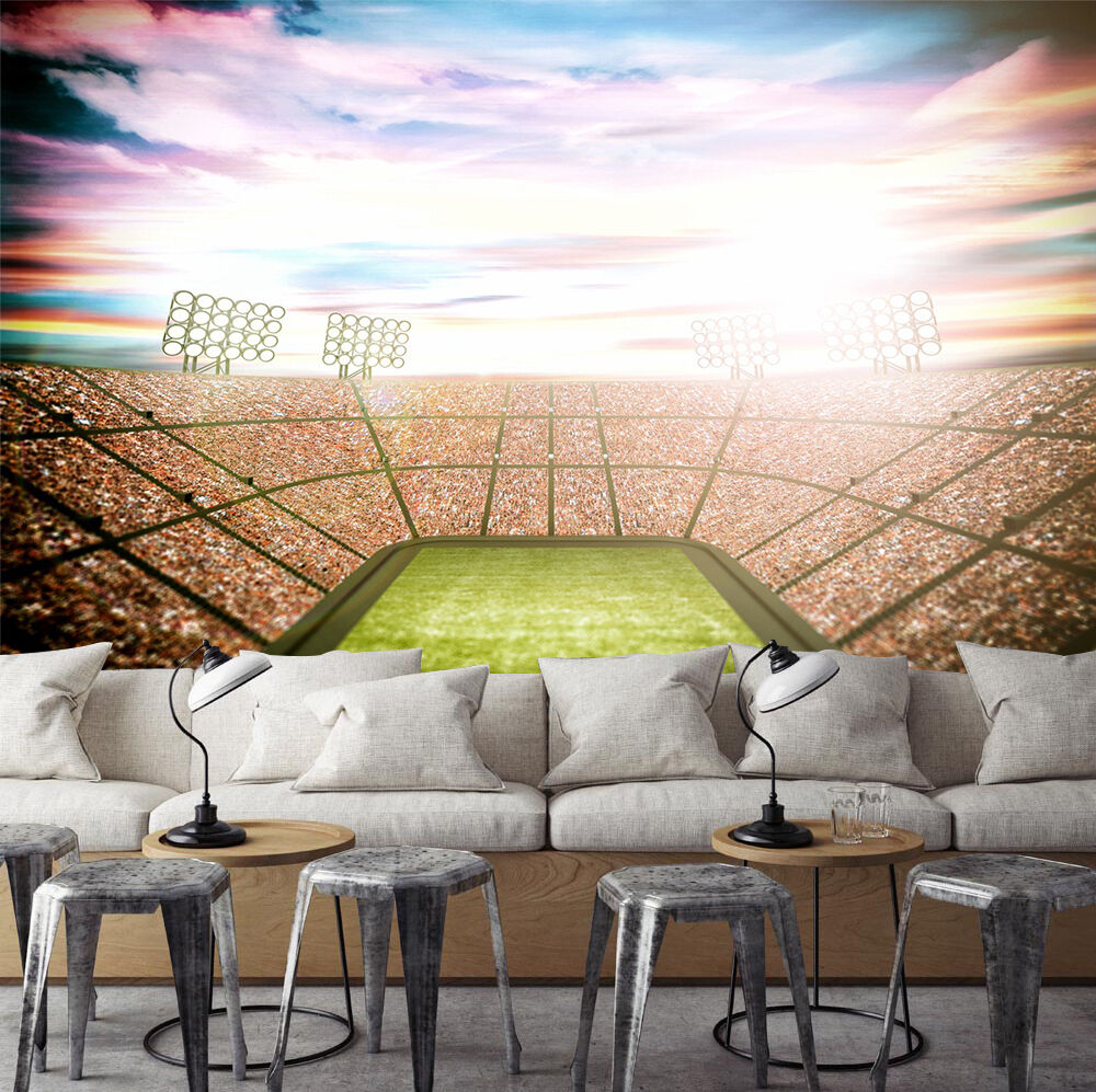 3D Open Air Stadium 218 WallPaper Murals Wall Print Decal Wall Deco AJ WALLPAPER