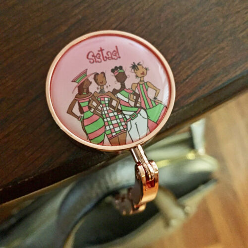 Kiwi McDowell Pink Sistas African American Women Purse Hanger ~ Artist