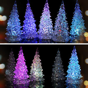 led 7 colors changing acrylic christmas tree night light lamp home decor gift 413567349619 ebay. Black Bedroom Furniture Sets. Home Design Ideas