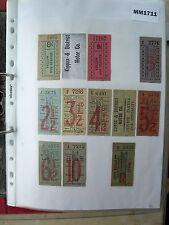 M1711 Kippax. 11 K&DMC Bus/Tram ticket(s). 11, not 12. 1 Photocopy of back