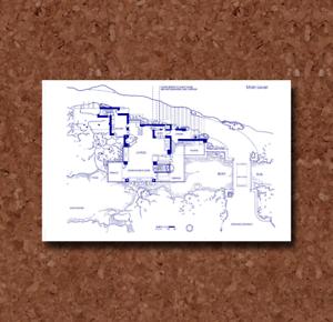 Frank Lloyd Wright Fallingwater Main Level Plan BP034