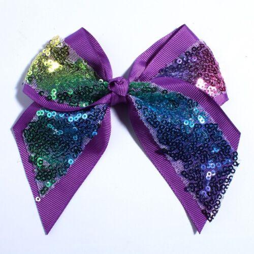 20PCS 12CM Big Bling Sequins Grosgrain Hair Bows For Box Gift Ribbon