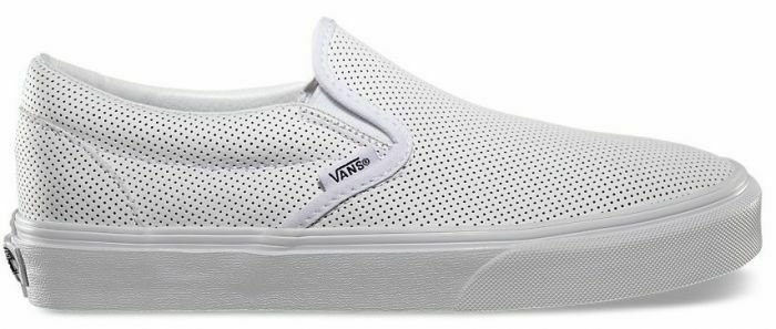 Vans UA Classic Slip-On White Perforated Men Lifestyle Sneakers New VN000XG8DJ7