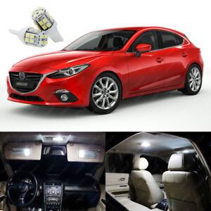 11 X Xenon White Led Interior Light Package Kit Deal For Mazda 3