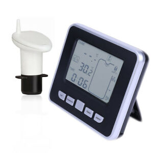 Details about 100m Wireless Ultrasonic Water Tank Level Meter Sensor  w/Thermometer Transmitter