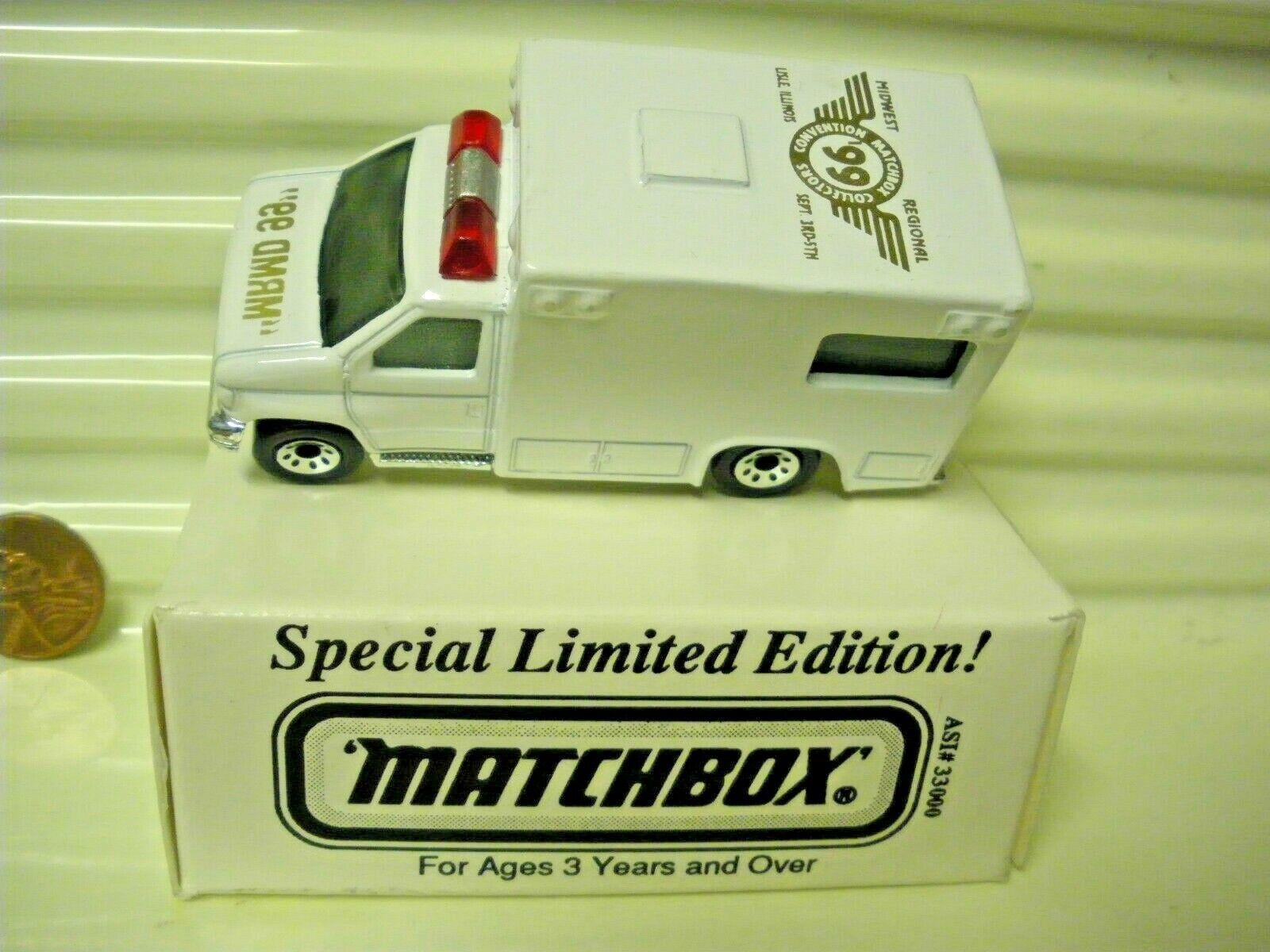 solo cómpralo Matchbox Raro'99 Raro'99 Raro'99 Lim edn Midwest convenio regional Impresión de oro MB51 ambulancia  buen precio